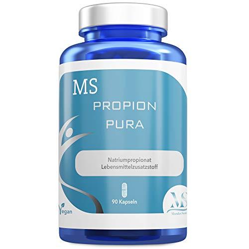 MS Propion Pura, 90 Kapseln | Lebensmittelzusatzstoff | Propionsäure | 500mg Natriumpropionat pro Kapsel | Vegan | Laktose- & glutenfrei