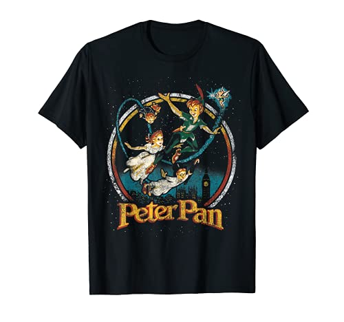 Disney Peter Pan Group London Flyin Graphic T-Shirt