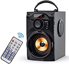 EIFER Bluetooth Speakers Portable Bluetooth Speaker Wireless Loudspeakers Subwoofer TWS Paring Remote Control FM Radio Handles Phone Stand TF Card/U-Disk/AUX Input Player for Indoor Outdoor Party B10