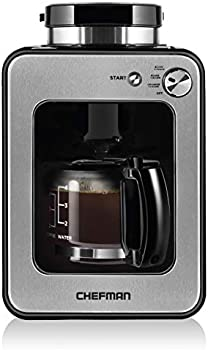 Chefman Grind Brew 4 Cup Coffee Maker & Grinder