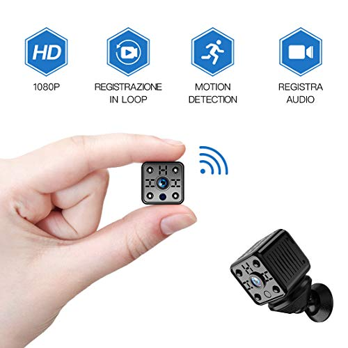 Mini Kamera FREDI WLAN Wireless Mini Überwachungskamera HD 1080P WiFi IP Kamera mit Bewegungsmelder/Mikrofon/Videoaufzeichnung für iPhone/Android Phone/iPad