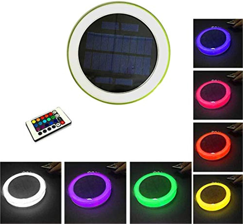 LHY LIGHT Unterwasser Licht Wasserdichte LED Leuchten Solar Schwimmteich Licht mit 16 Farben und Fernbedienung, 5 Modi Pool Licht für Garten Yard Pool Brunnen Aquarium