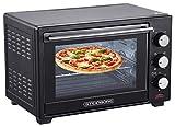 Mini Backofen 25 Liter | Pizza-Ofen | 3in1 Backofen | Minibackofen | Miniofen | Krümelblech | Ober-/Unterhitze | Konvektion | 60 minTimer | 1.600 Watt