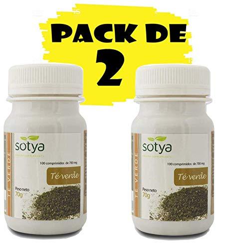 Sotya Té Verde 200 comprimidos (dos botes de 100 C/U) 500 M