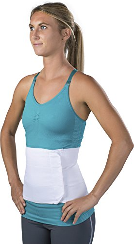 Ideal for providing compression and support for post-natal or post-abdominal surgery, abdominal strains and weakness Designed with multiple elastic support panels and features flannel lining, which helps prevent rolling Contact closure allows for eas...