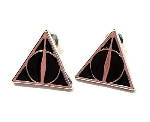 Oorstekers van metaal en nikkelvrij Harry Potter Doni van Morte Rackets Sambuco Stone Risurretion mantel zichtbaarheid Hogwarts Grifonoro Lord Voldemort Silente HP Cosplay Pop Saga