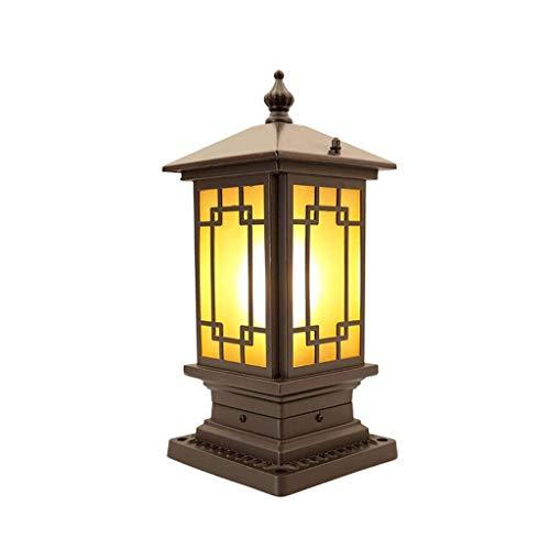SPNEC Exterior Lights, LED Column Headlights, Outdoor Door Post Lights, Garden Post Lights, Aluminum Alloy Garden Villa Landscape Decoration