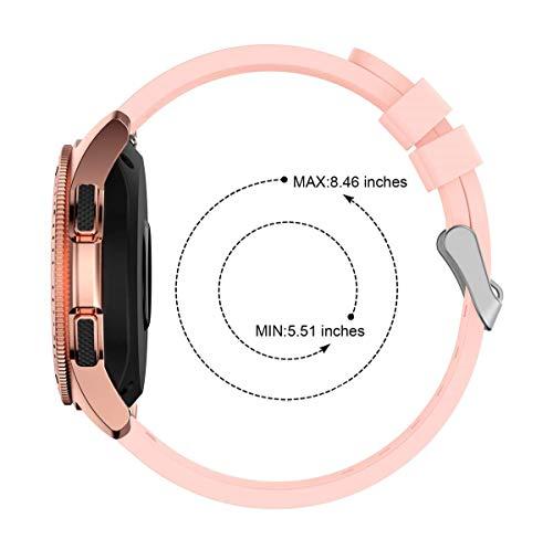 L@LILI Reloj para Samsung Galaxy (42 mm 46 mm) Vendas, Silicona Fitness Deporte reemplazo Correa de muñeca Pulsera de Reloj Inteligente,5,42mm