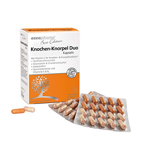 Knochen-Knorpel Duo Kapseln | Mit Glucosamin & Chondroitinsulfat | Nahrungsergänzungsmittel | 120 Kapseln