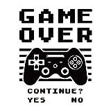 Game Over pegatinas murales controlador de juego calcomanía vinilo diseño juegos 3D Game Decoración Papel pintado para dormitorio sala de estar, sala de juegos familiar, habitación de juegos de juego