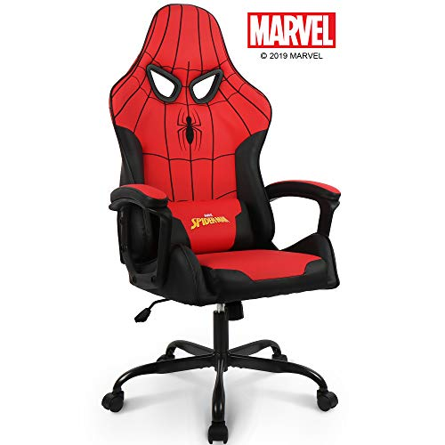 Marvel Spider-Man Gaming Chair High End Ergonomic Neck Lumbar Support Armrests Tilting Computer Desk Office Executive Leather Racing Chair