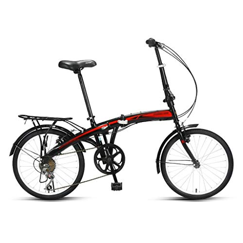 Zxb-shop Bicicleta Plegable Unisex Plegable Bicicletas for Hombres y Mujeres Estudiantes Adultos