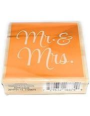 Hampton Art Mr and Mrs Rubber Stamp on Wood Block