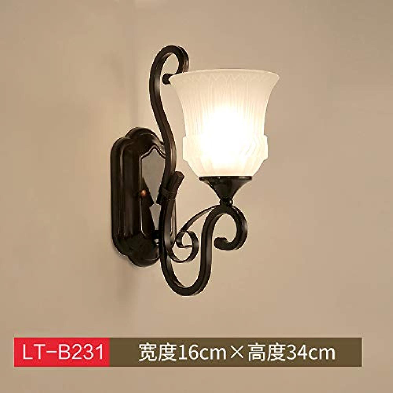 Agorl Nordic nachttischlampe wandleuchte schlafzimmer einfache kreative beleuchtung wohnzimmer gang wandleuchte, militrgrün LT 231 + warmes licht