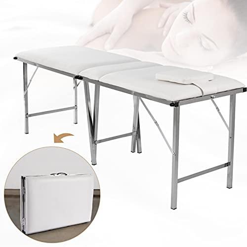 Camilla de masaje, plegable, mesa de masaje, silla de masaje con 3...
