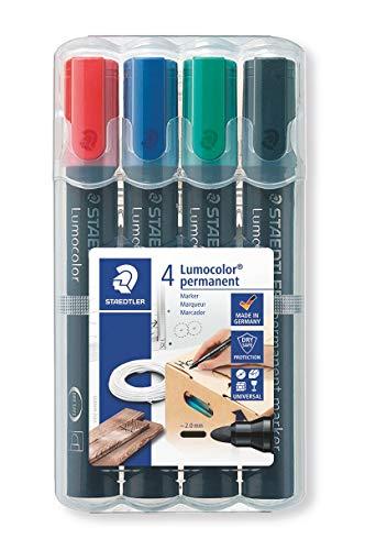 STAEDTLER 352 WP4 - Estuche de 4 marcadores permanentes con