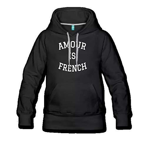 Amour is French Sweat Shirt Femme Capuche Premium M Logo Blanc