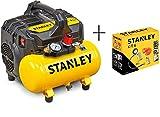 STANLEY DST 100/8/6 - Compressore Silenzioso (59dB) + KIT 6 STANLEY...