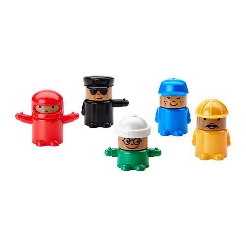 Ikea Lillabo 602.426.14 Lot de 5 figurines de jeu
