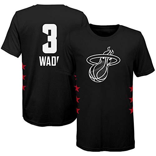 ZHS Camiseta de baloncesto All-Star, 23 James & #3 Wade & #34 & #2 Leonard, camiseta de baloncesto de algodón para hombre 11-XXXL
