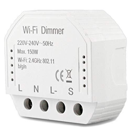 ZGQA-GQA 2 Forma Inteligente Luz WiFi LED Dimmer interruptor diferencial DIY Smart Module Vida/Tuya APP control remoto, compatible con Alexa Echo Inicio