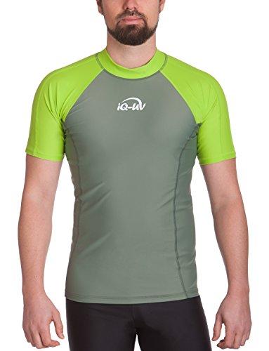 iQ-UV Herren UV 300  Slim Fit Kurzarm T-Shirt, grün (neon green_515), L (52)