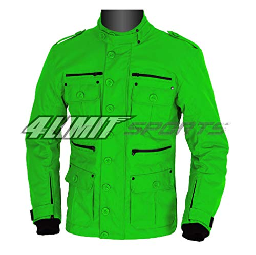 4LIMIT Sports Motorradjacke GENTLEMAN Outdoor Textil Jacke grün
