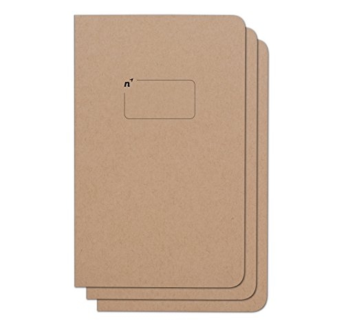 Northbooks Blank Notebook Journal | 5x8 Unlined Notebooks Plain Journals | Soft Cover Eco-Friendly Premium Recycled Cream Color Paper 96-Pages | Made in USA | 3-Pack