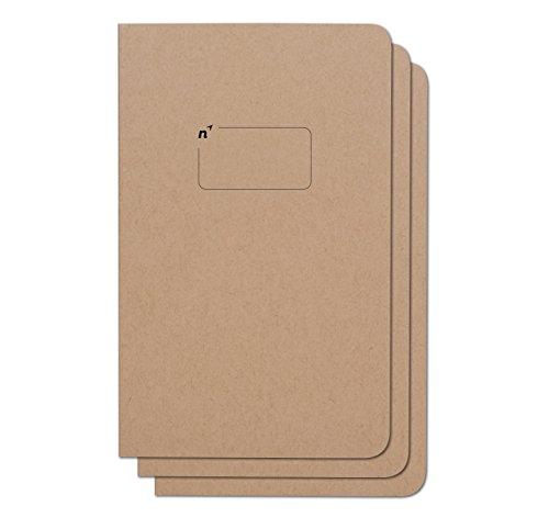 Leere Journalskizzenbücher | 3 blanko Notizbücher mit einfachen Seiten | Erstklassiges dickes Papier | 5x8