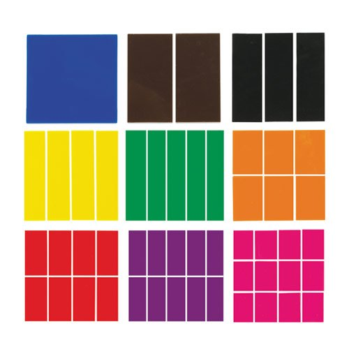 EAI Education Fraction Squares: Blank - Set of 51