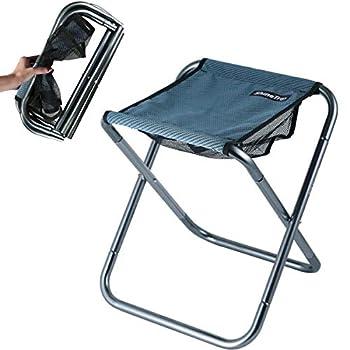 C Hello Cloud Tabouret de camping pliable - Mini chaise d'extérieur pliable - Chaise portable - Léger - Pour la pêche, le camping, les voyages, la randonnée, la plage, le barbecue (grand)