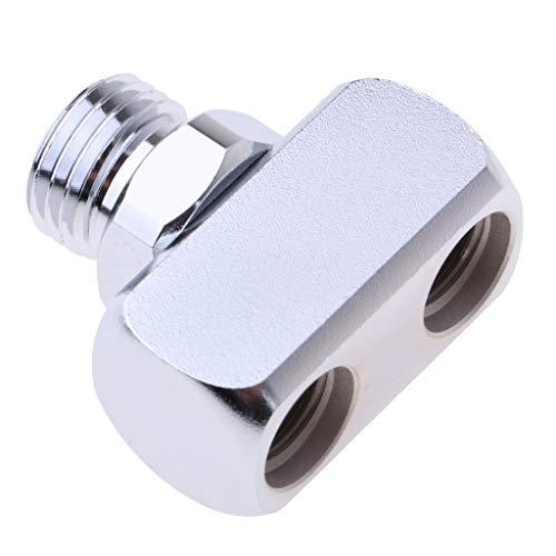 HSJWOSA Profesionalmente Buceo con escafandra Splitter Manguera del regulador Adaptador de Rosca 1 a 2 LP Dramático (Color : Silver)
