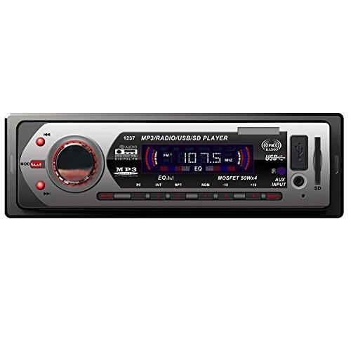 C-FUNN Lecteur De Musique pour Voiture Mp3 USB SD Mmc Aux Radio