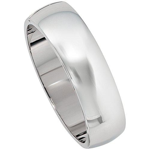 JOBO Damen Armreif Armband oval breit 925 Sterling Silber Kastenschloss Silberarmreif