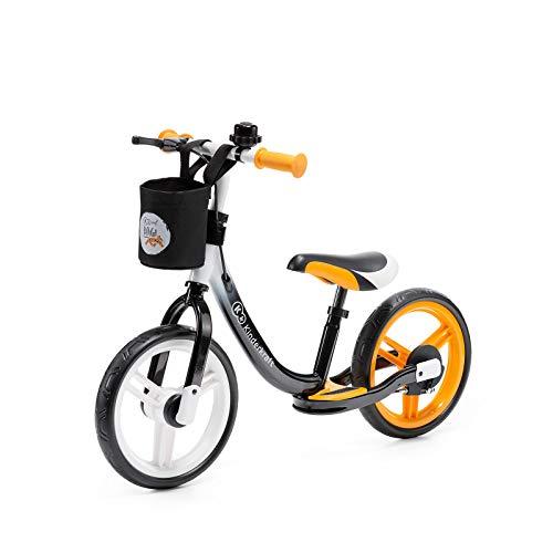 Kinderkraft Bicicleta sin Pedales SPACE, Sillín Ajustable, con Freno, Naranja