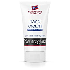2-ounce tube of fragrance-free Neutrogena Norwegian Formula Hand Cream works to hydrate and moisturize hands, delivering effective relief for dry, rough skin This hand moisturizing cream is dermatologist-recommended and features a unique formula with...