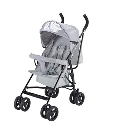 BLWX - Poussette Peut s'asseoir inclinable bébé lumière et Facile à Plier élargie Parapluie Poussette système de Voyage léger Voiture Poussette (Couleur : Gray)