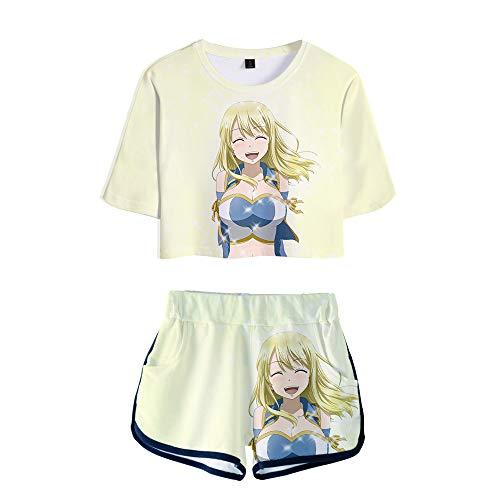 Preisvergleich Produktbild WOONN Shorts und Kurze Ärmel,  Fairy Tail Anime Shorts passen zu Sport,  Freizeit,  Pyjama