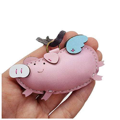 immi Schweinchen/Schwein Taschenanhänger, liebevoll handgefertigter Anhänger von 3XU