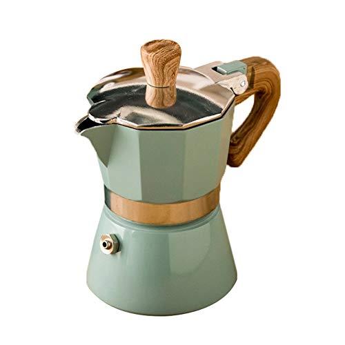 EMUKOEP Venezia - Cafetera de espresso, para 3/6 tazas, máquinas de café, 150/300 ml, aluminio italiano, cafetera expreso, percolador
