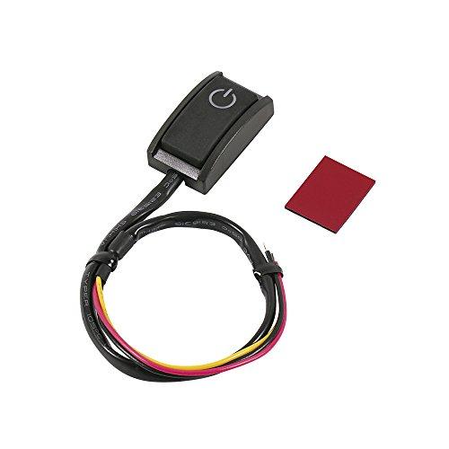 エーモン 貼り付けプッシュスイッチ ON-OFF DC12V・200mA 発光色:ホワイト 3224