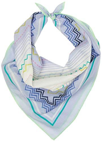 CODELLO Damen Bandana Halstuch | Bindetuch | blau mit Zick Zack Muster | 100% Baumwolle, Light Blue, Einheitsgröße