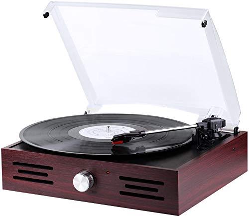 Retro Plattenspieler | Line Out | Aux-In | Schallplattenspieler | Nostalgie Plattenspieler | Vinyl Spieler | Turntable | Retroanlage