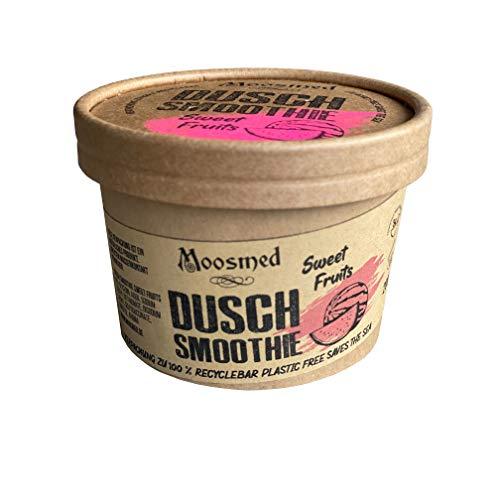 Moosmed Dusch Smoothie Sweet Fruits - vegane Bio-Seife handgefertigt in Deutschland – Dusch Butter mit Peeling Effekt