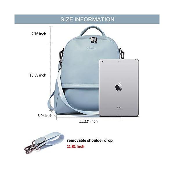 BROMEN Backpack Purse for Women Leather Anti-theft Travel Backpack Fashion College Shoulder Handbag 3