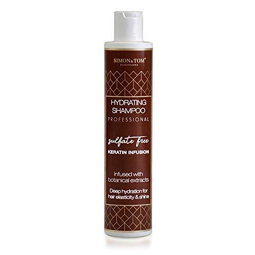 Simon & Tom Professionele hydraterende shampoo, verrijkt met keratine en botanische extracten, hydrateert en versterkt het haar, vrij van sulfaten, parabenen en zouten, 250 ml.
