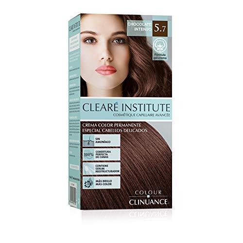 Colour Clinuance. Tinte Capilar Cabellos Delicados. 5.7 Chocolate Intenso, Coloración Permanente Sin Amoniaco, Más Brillo, Color Intenso, 100% Cobertura, Testado Dermatologicamente