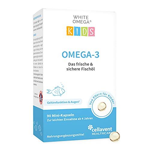 Omega-3 Kapseln für Kinder – Vergleichssieger 2021 – 90 Mini-Kapseln – zuckerfrei – 518 mg geschmacksneutrales Fischöl