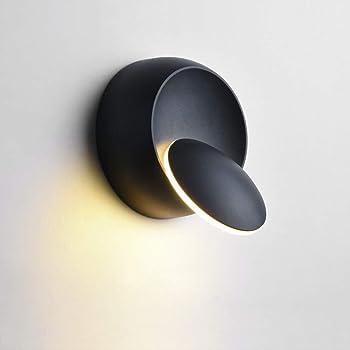 Appliques Murales Interieur Blanc Chaud Lampe Murale LED 5W Moderne Applique Murale Blanc Chaud Créatif Eclipse 2 en 1 Fer Applique Murale Lampe Led