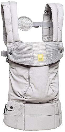 YZ Portabebés, 360 Deg; Flip 6-en-1 Convertible Carrier, Ergonomic Baby Child Carrier by the Complete All Seasons, Adecuado para bebés de 0-4 años (gris claro)
